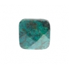 African Turquoise 16mm Facetted Square 11pcs Approx